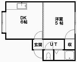 パール第一つちだマンション[10号室]の間取り