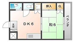 コモ・エルニド[2階]の間取り