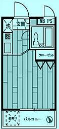 モナークマンション溝の口第2[1階]の間取り