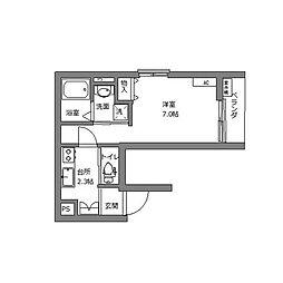 エブリネット新宿 3階1Kの間取り
