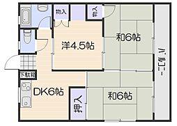 広島県広島市西区井口1丁目の賃貸マンションの間取り