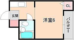 豊中ニューハイツ[2階]の間取り