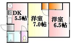 広島県広島市中区舟入町の賃貸アパートの間取り