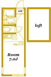 ユナイト横浜グラスゴーの丘[202号室]の間取り