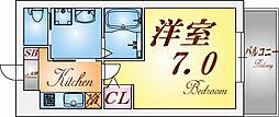 兵庫県神戸市兵庫区下沢通3丁目の賃貸マンションの間取り