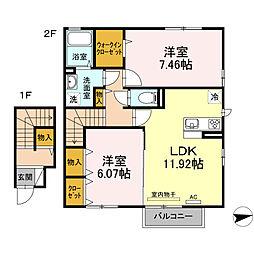 D-room桜木[2階]の間取り