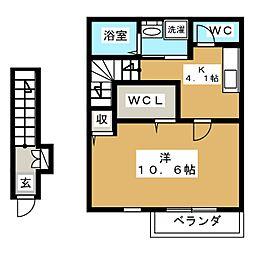 ソレイユパルクXII番館[2階]の間取り