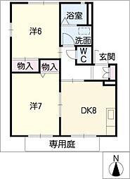 愛知県長久手市宮脇の賃貸アパートの間取り