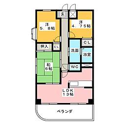 第二山忠ビル[4階]の間取り