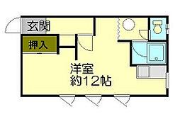 信香町アパート[2階]の間取り