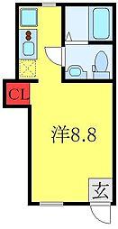 PATIO SQUARE  徳丸 1階ワンルームの間取り