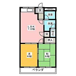 グランドポリス92[2階]の間取り