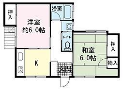 Aアパート[1階]の間取り