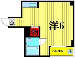 埼玉県越谷市赤山町5の賃貸マンションの間取り