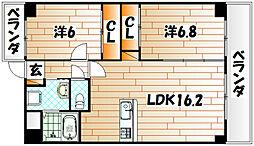 ヒット小倉BLD[15階]の間取り