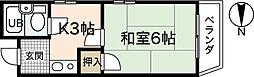 ピーシングKIII[2階]の間取り