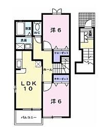 メゾン・ド・ミニョン510[2階]の間取り
