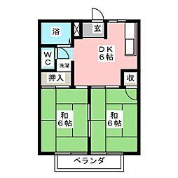 ファーストTM 1・2[2階]の間取り