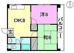 ハイツ南松山[501 号室号室]の間取り