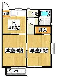 KE5番館[202号室]の間取り