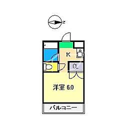 サニーパレス朝倉[3階]の間取り