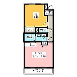 グリーングラスN[2階]の間取り