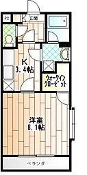 ロシニョル[2階]の間取り
