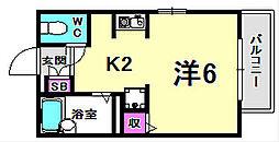 プチシャトー北昭和[2階]の間取り