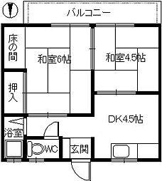 阪堺マンション[2階]の間取り