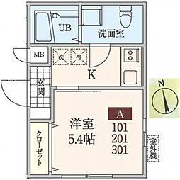 神奈川県座間市緑ケ丘3の賃貸マンションの間取り
