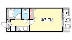 シェレナ六甲[402号室]の間取り
