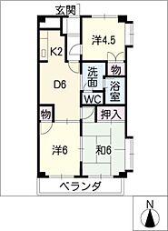 アーバンハイツ太田[1階]の間取り