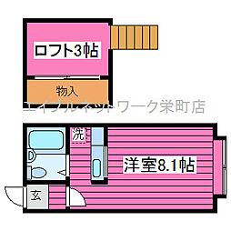 北海道札幌市北区篠路七条6丁目の賃貸アパートの間取り