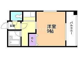 f maison teine 7階ワンルームの間取り