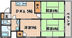 広島県広島市東区温品4丁目の賃貸マンションの間取り