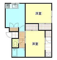 神奈川県横浜市南区通町1丁目の賃貸マンションの間取り