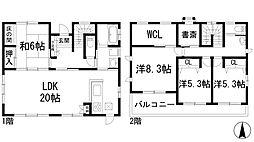 [一戸建] 兵庫県西宮市名塩山荘 の賃貸【/】の間取り