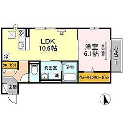 (仮)D-roomWIT米原8丁目[103号室]の間取り