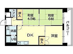 ピアイースト姫路白浜[3階]の間取り