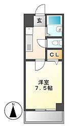 ディアコート鶴舞[1階]の間取り