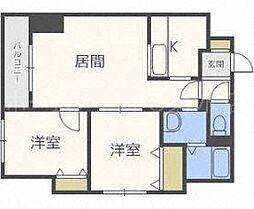 サムティ東札幌ノルド[2階]の間取り