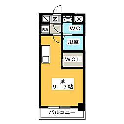 S-RESIDENCE東日暮里 6階ワンルームの間取り