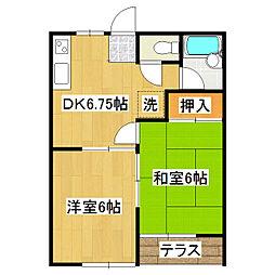グリーンハイツ C[2階]の間取り