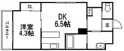北海道札幌市豊平区豊平八条8の賃貸マンションの間取り