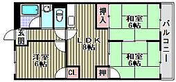 菊ハイツ[201号室]の間取り