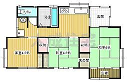 [一戸建] 宮崎県宮崎市恒久2丁目 の賃貸【/】の間取り
