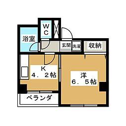 ホワイトクレステ[6階]の間取り