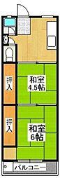武村マンション[103号室]の間取り