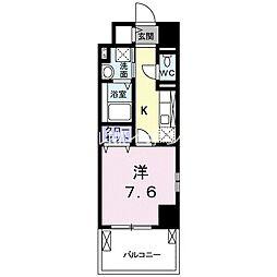 JR山陽本線 倉敷駅 徒歩12分の賃貸マンション 5階1Kの間取り