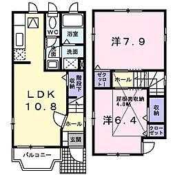 漆原ハウス[0101号室]の間取り